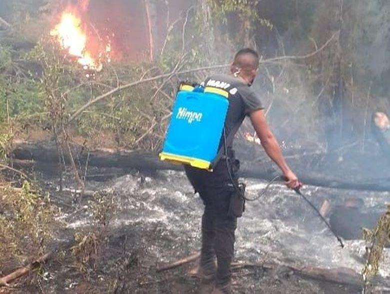 Resumen de los 7 focos de incendios en Oberá y localidadesvecinas