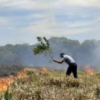 Incendios: El fuego consumió 120 hectáreas en Bonpland 15 en San Javier, hay focos en Caa Yarí, Alem e Itacaruaré