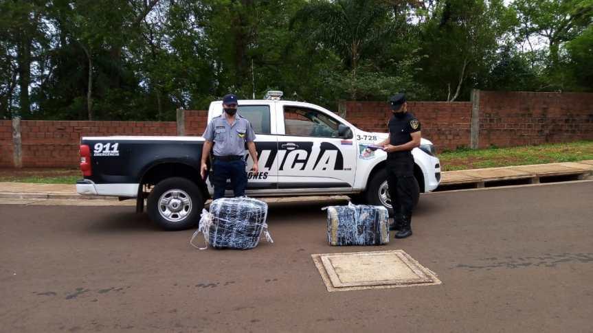 Incautaron más de 70 kilogramos de marihuana a orillas delParaná