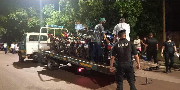 La policía secuestró 57 motos en controlesvíales
