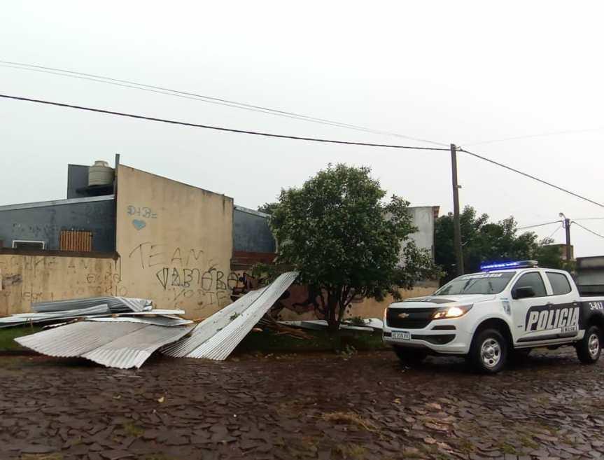 Tormenta causó la voladura de un techo en el 37Viviendas