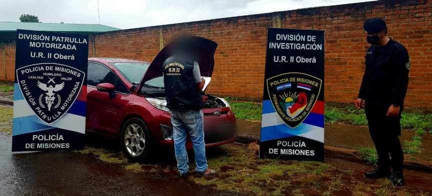 La policía recuperó en Oberá un vehículo robado en BuenosAires