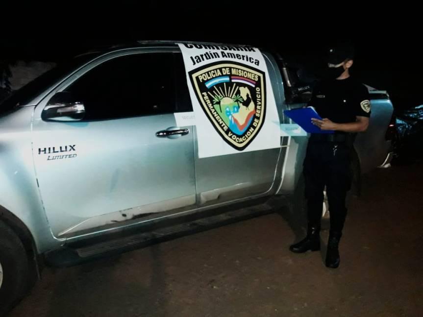Capturaron a un hombre que días atrás agredió y embistió con su camioneta apolicías