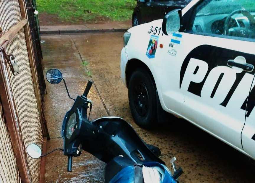 """Salió a dar """"una vuelta"""" con una moto robada y lodetuvieron"""