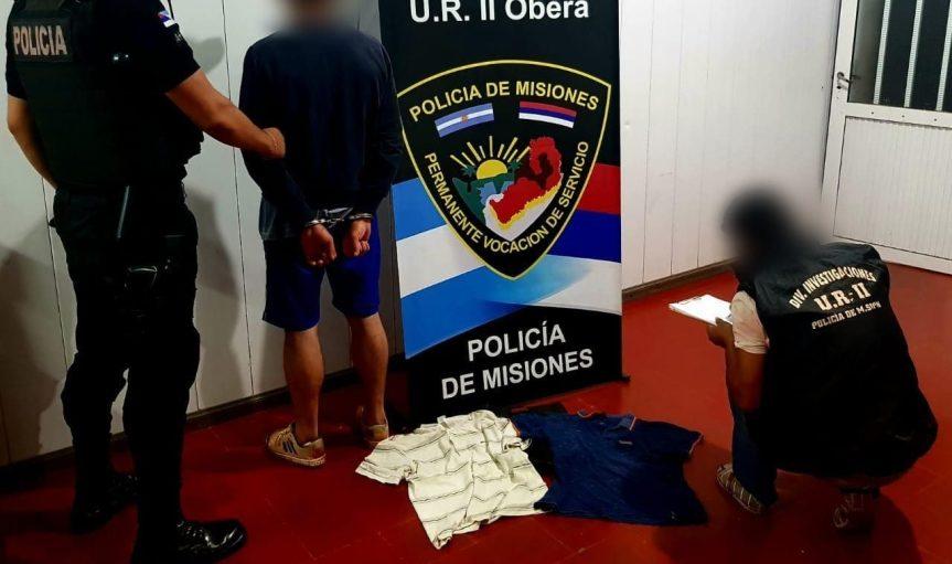 Detuvieron a un joven que robó e intentó vender prendas devestir
