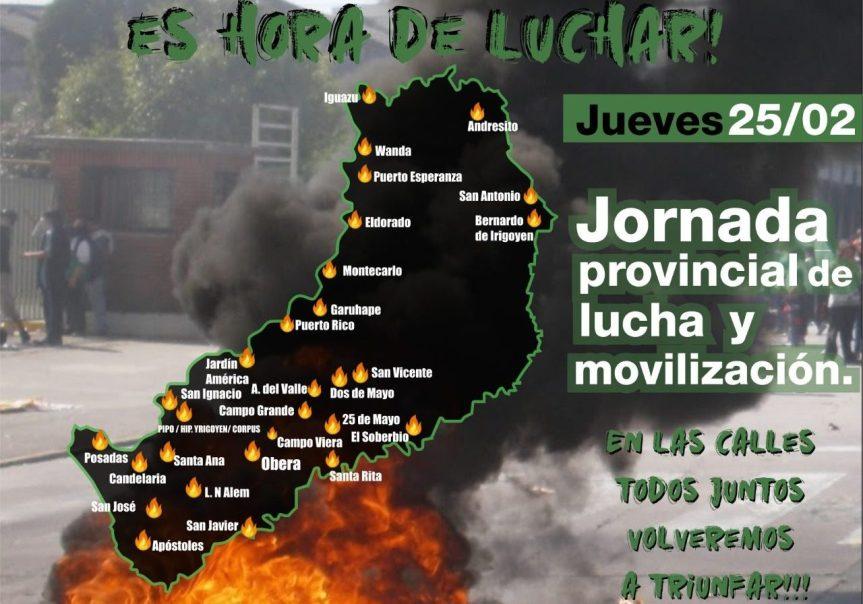 Docentes irán al paro el jueves en Misiones con movilizaciones en calles y rutas de toda laprovincia