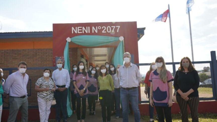 Inauguraron el nuevo edificio del NENI 2077 enOberá