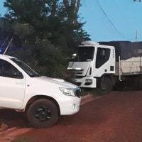 Camionero denunció que fue asaltado pero en realidad estaba con una mujer