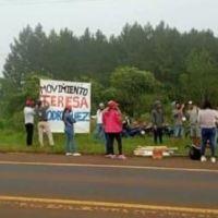 Movimientos sociales cortan la ruta 14 reclamando tierras