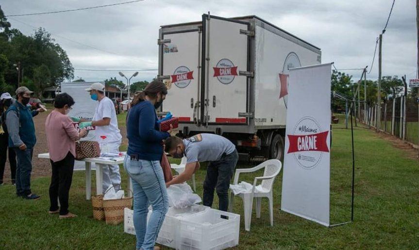 El camión de Misiones Carne está hoy en Montecarlo, Aristóbulo del Valle y Dos deMayo