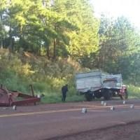 Choque múltiple en la ruta 9 involucró un camión, una cosechadora y una camioneta
