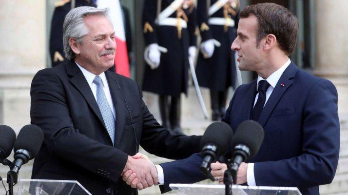 Fernández se reúne con Macron para posponer los vencimientos de deuda con el Club deParís