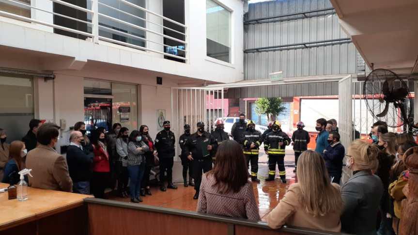 Realizaron un simulacro de evacuación y extinción de incendios en el JuzgadoFederal