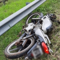 Motociclista murió tras despistar en la Ruta Costera 2