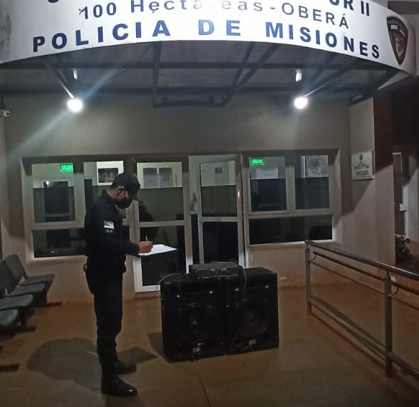 Secuestraron parlantes y un amplificador por ruidos molestos en el Barrio SanMiguel