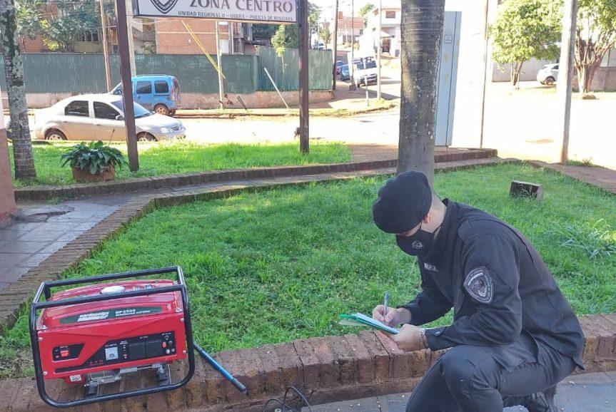 Hallaron un grupo electrógeno y otros elementos robados de un departamento sobre calle RalfHaupt
