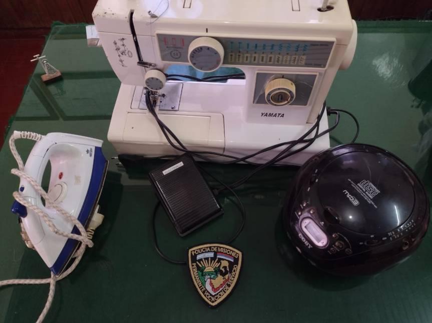 Recuperaron pertenencias robadas de un tallertextil