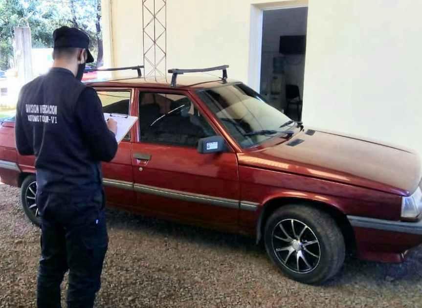 Secuestraron un auto con número de motoraduleterados