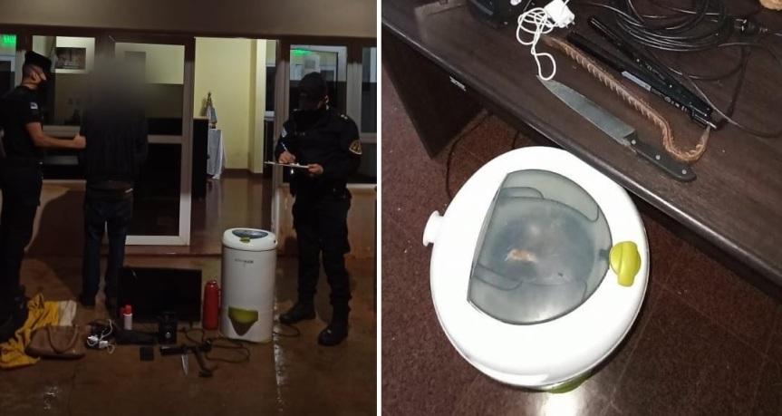 Detuvieron a un joven y recuperaron varios objetos robados de unavivienda