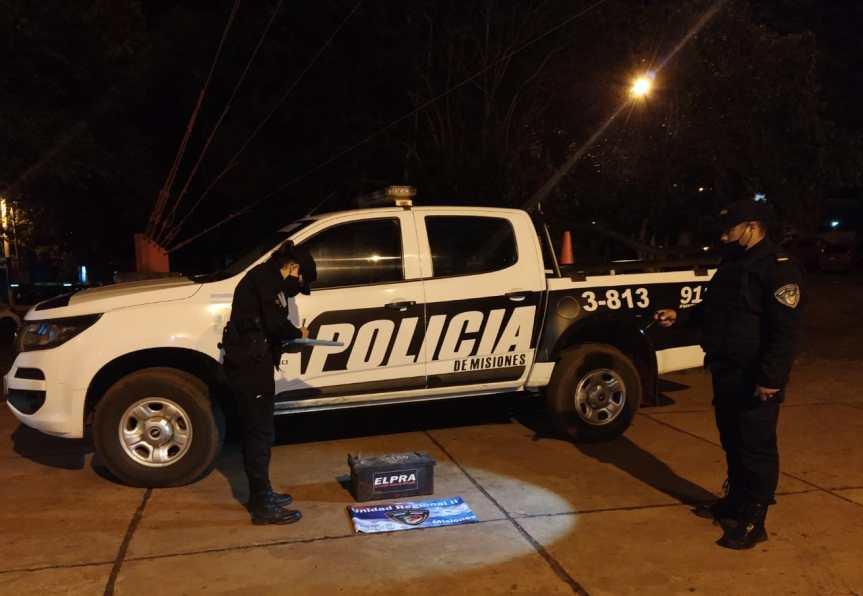 Recuperaron la batería de un camión robado en CampoViera