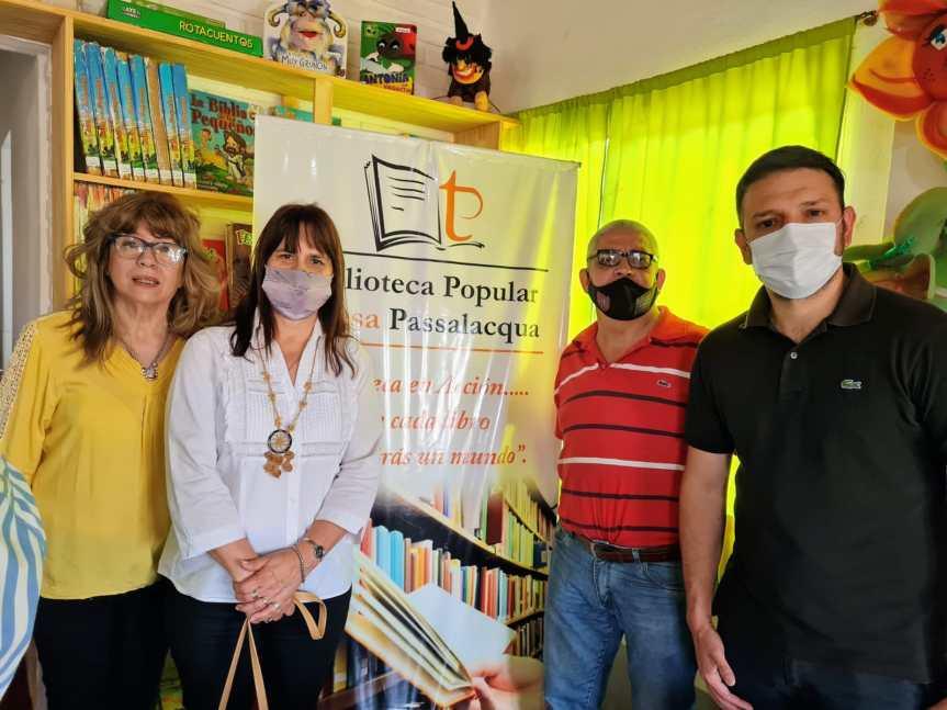 Celebraron el aniversario de la biblioteca Teresa Morchio dePassalacqua