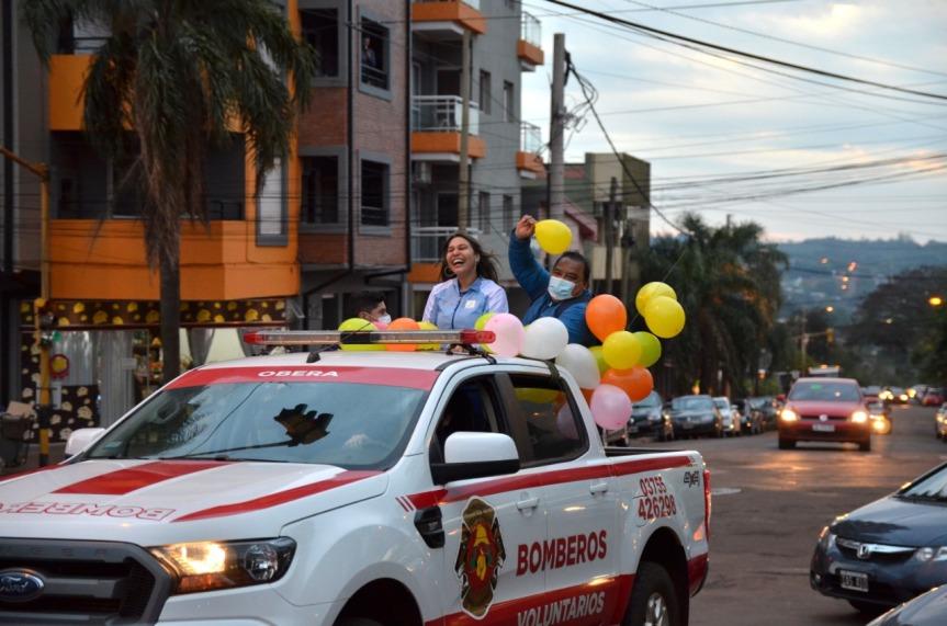 La atleta Paralímpica Mahira Bergallo tuvo subienvenida