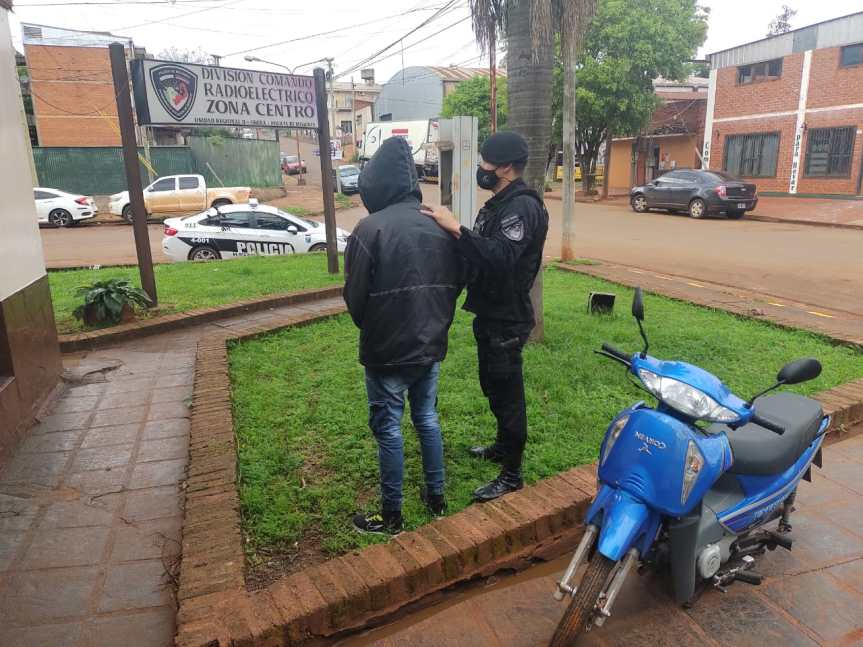 Hallaron en Caballeriza una moto robada en calle Gobernador Barreyro y detuvieron alsospechoso