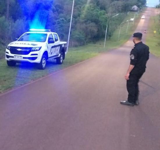 Despiste de una moto dejó un joven lesionado enMártires
