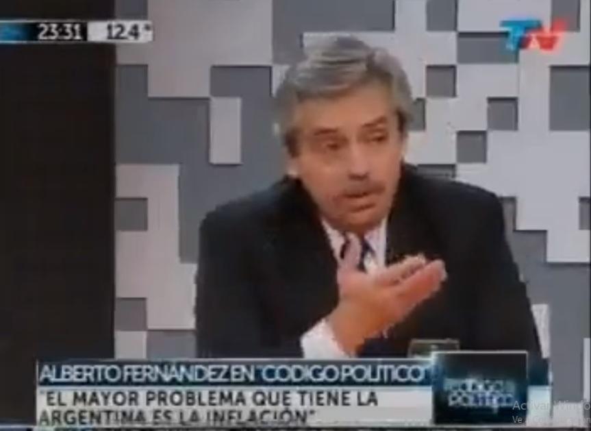 Alberto criticaba a Cristina en 2013 por el control de precios y la emisión de dinero sinrespaldo