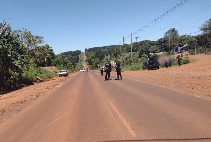 Choque en la ruta 5 cerca de Las Palmas dejó un motociclistaherido