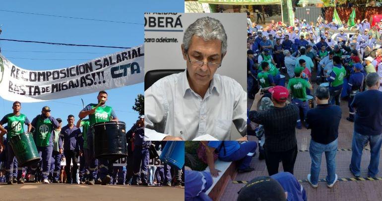 """La municipalidad hizo la denuncia penal por la huelga: """"Necesitamos brindar los servicios básicos"""", dijoFernández"""