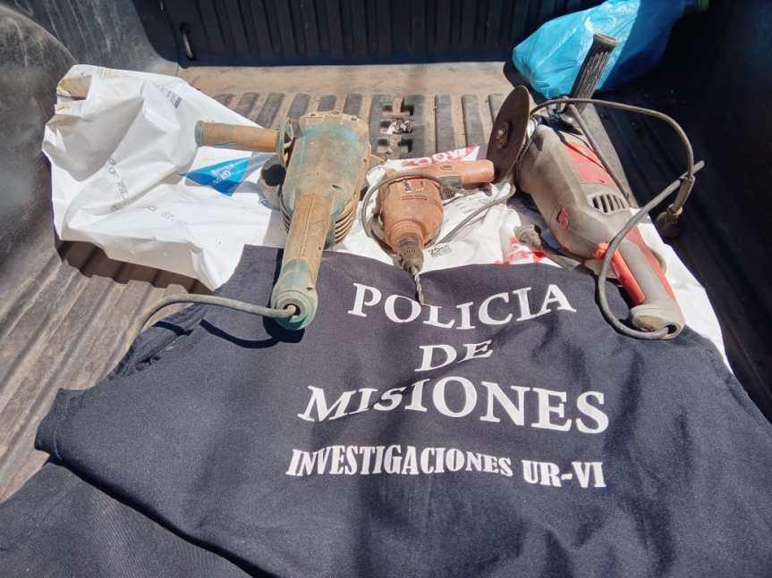Recuperaron herramientas robadas en unobrador