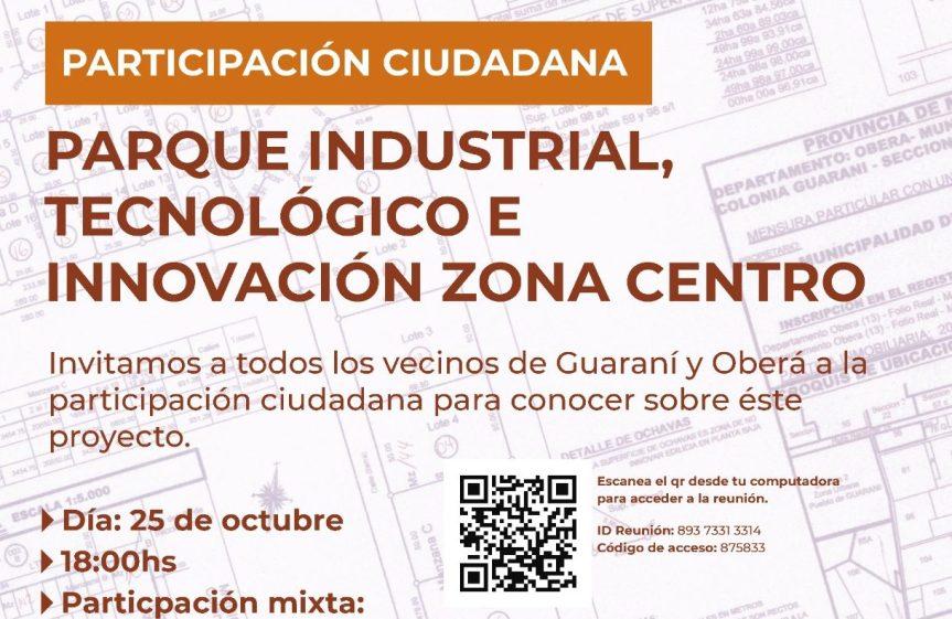 Hoy jornada de Participación ciudadana por el ParqueIndustrial
