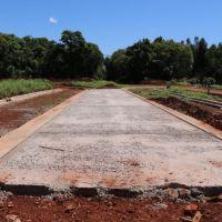 Construyen una estación para colectivos frente a Anses Oberá